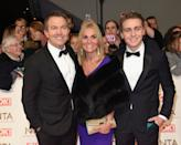 LONDON, ENGLAND - JANUARY 25: Bradley Walsh with his wife Donna Derby and their son Barney attends the National Television Awards on January 25, 2017 in London, United Kingdom. (Photo by Anthony Harvey/Getty Images)