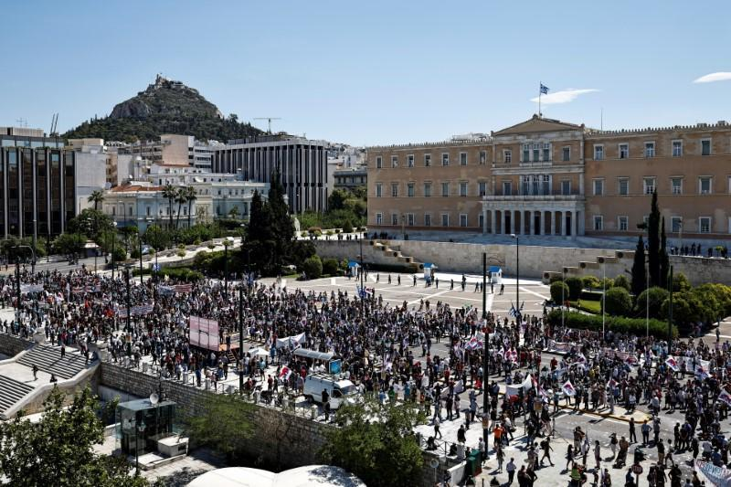 24-hour strike ahead of a vote on a new labour bill in Athens