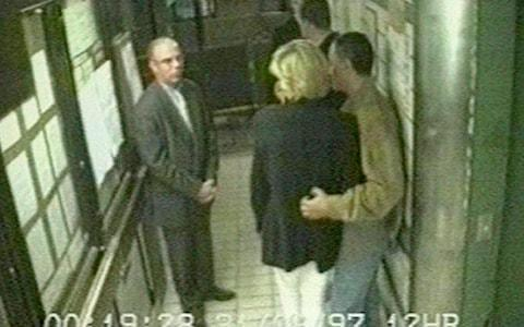 <span>Diana and Dodi's final embrace was caught on camera at Paris's Ritz Hotel as they waited for their car.</span> <span>Credit: PA </span>