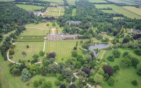 Aerial view of the 20,000 acre Sandringham estate in Norfolk, where the Royals spend Christmas  - Credit: David Goddard/Getty