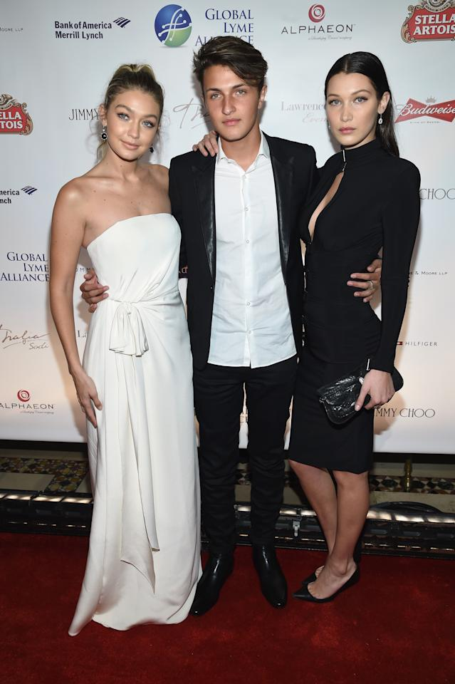 <p>Born in 1995, Gigi is the oldest of the Hadid siblings. Her arrival was closely followed by sister Bella, born in 1996. Younger brother Anwar, was born a few years later in 1999. The trio also have a number of two half-siblings from their father's former marriage. <em>[Photo: Getty]</em> </p>