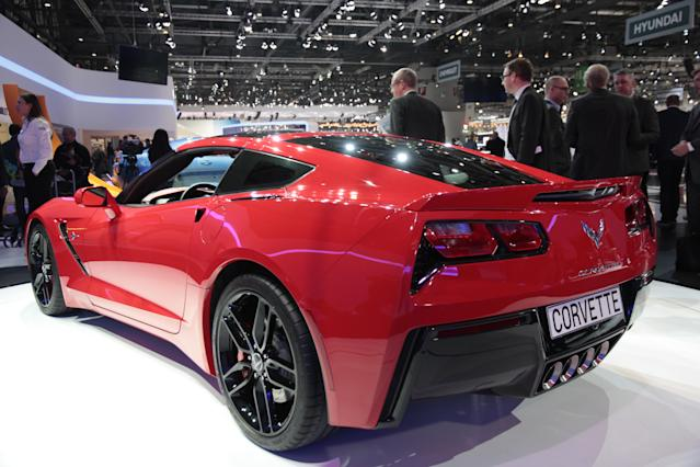 <strong>Corvette Stingray</strong>: The Corvette boasts a new small-block 6.2-litre V8 with 450hp, promising rapid performance and the Convertible version making its debut on stand could be a drop-top bargain. (PA)