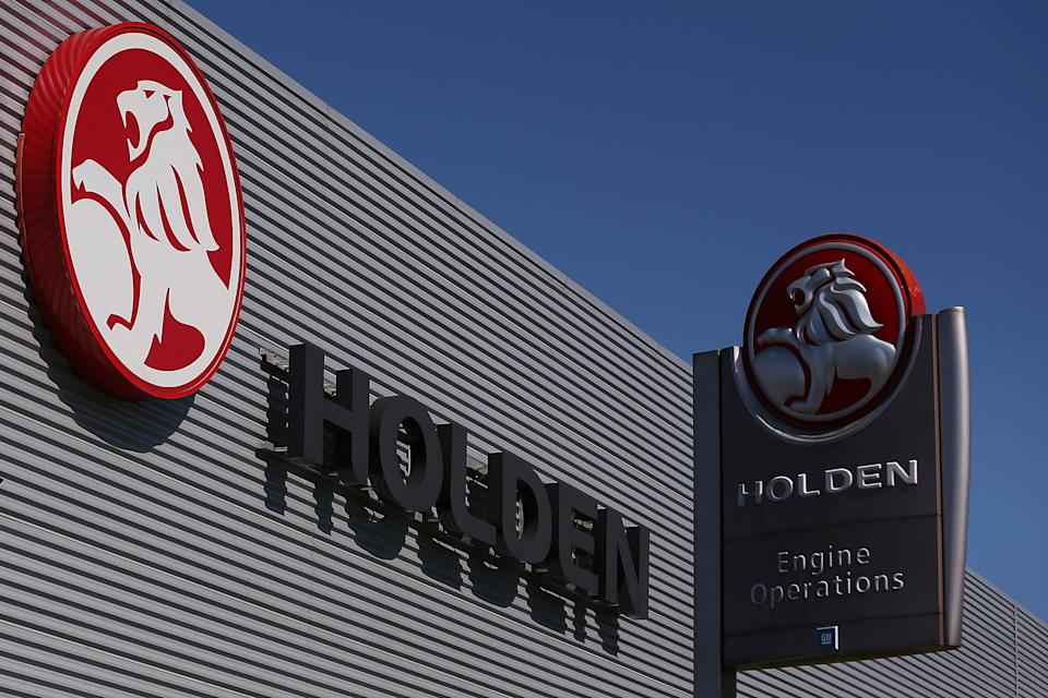 MELBOURNE, AUSTRALIA - DECEMBER 06:  A Holden logo is seen at its Holden headquarters in Port Melbourne on  December 6, 2013 in Melbourne, Australia. Reports suggest Holden GM will close its manufacturing plants in Australia by 2016, resulting in the loss of thousands of jobs at its Broadmeadows base.  (Photo by Michael Dodge/Getty Images)