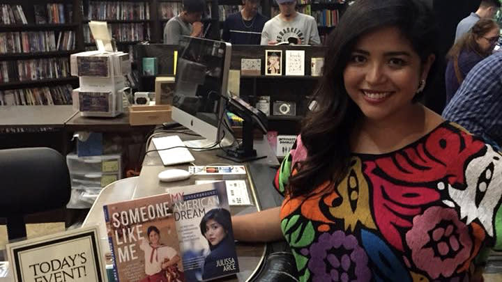 """Author Julissa Arce at a book signing for her new memoir """"Someone Like Me."""" (Photo: Courtesy of Julissa Arce)"""
