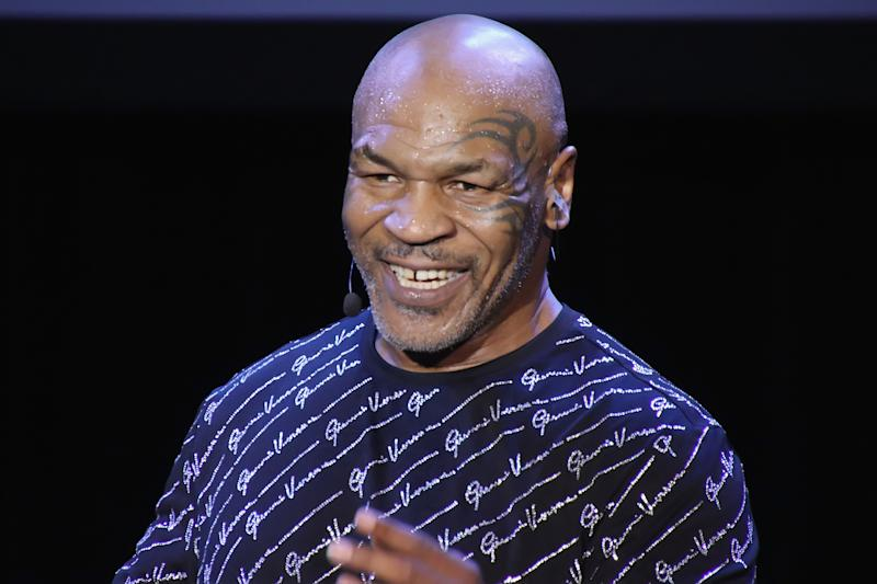 "ATLANTIC CITY, NJ - MARCH 06: Mike Tyson performs his one man show ""Undisputed Truth"" in the Music Box at the Borgata on March 6, 2020 in Atlantic City, New Jersey. (Photo by Donald Kravitz/Getty Images)"