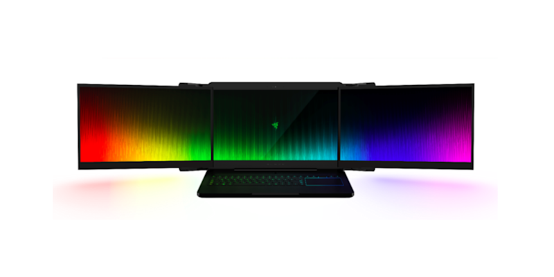 Razer Showcases 'Project Valerie' A Laptop With Three 17 Inch Screens