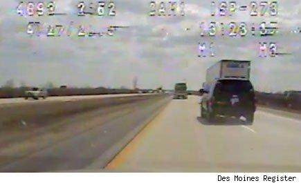 Iowa police officer Larry Hedlund was trying to make sure a speeding car was pulled over. But he says he lost his job.