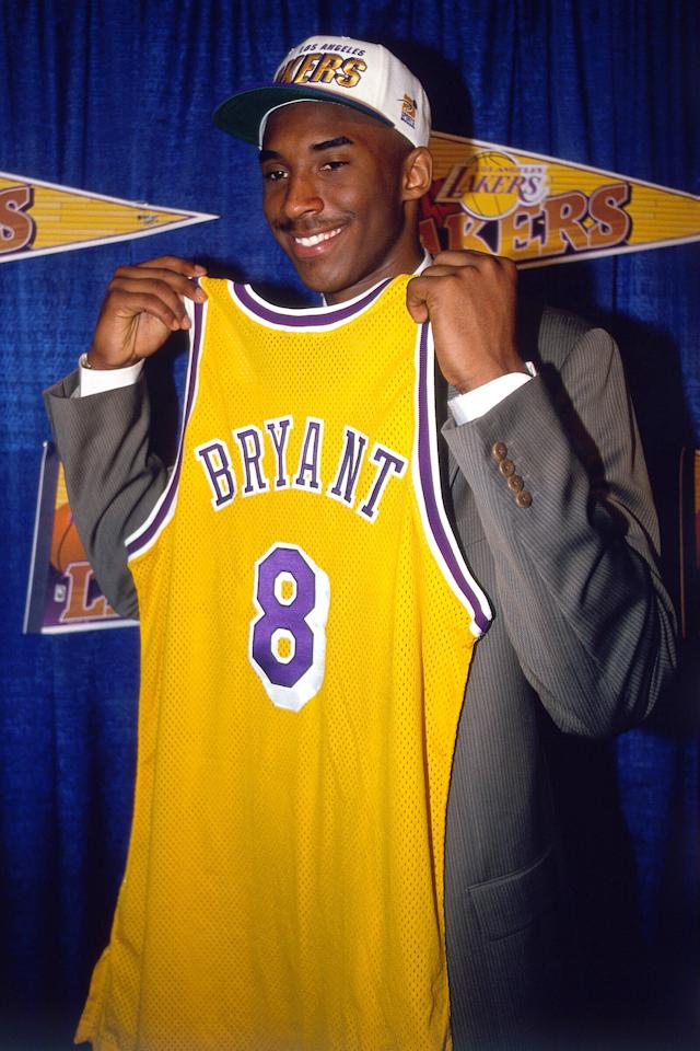 A standout athlete as a teen at Lower Merion High School, Bryant decided to enter the NBA straight out of 12th grade. He was the 13th overall pick in the 1996 NBA Draft, by the Charlotte Hornets, who traded his draft rights to the Los Angeles Lakers in a prior agreement.