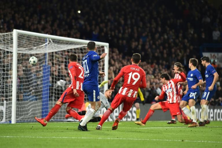 Chelsea blew their chance to finish top of Group C in the Champions League as they were held to a 1-1 draw by Atletico Madrid despite a Stefan Savic (R) own goal
