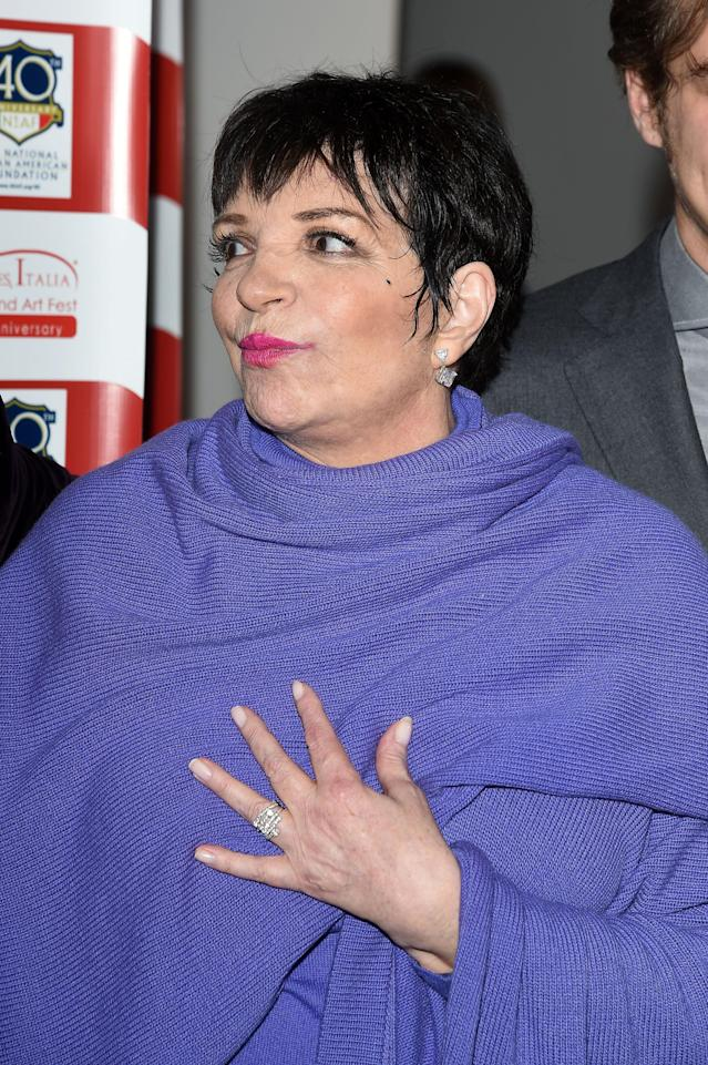 Liza Minnelli in 2015. (Photo: Getty Images)