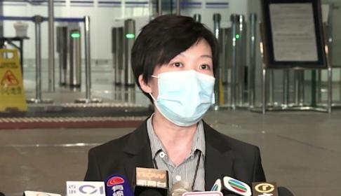 Chief Inspector Chan Sin-woon tells the media that two men have been arrested in connection with an explosion in Wan Chai early this month. Photo: Handout