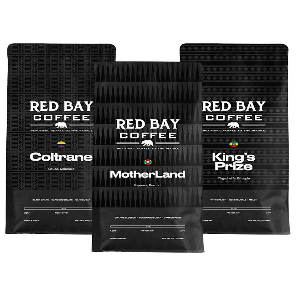 <p>Give your coffee-lovers something new to try with this <span>Red Bay Motherland Coffee Beans 3-Pack Gift Collection</span> ($57).</p>