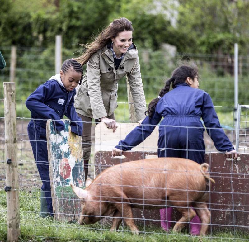 Kate Middleton gets agricultural at Farms For City Children's project