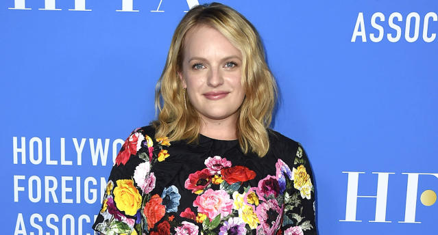 "Elisabeth Moss promotes ""The Handmaid's Tale."" (Photo: Jordan Strauss/Invision/AP)"