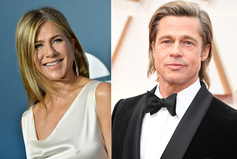 Jennifer Aniston und Brad Pitt feiern eine virtuelle Reunion (Bilder: Getty Images