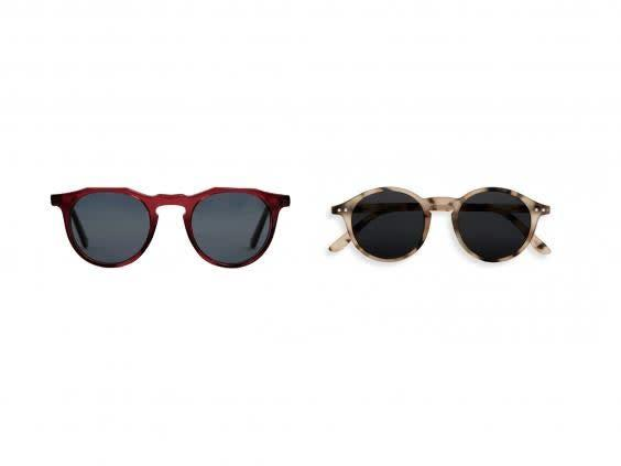 Keep the sun rays off your face while staying stylish with these sunnies for men and women (left, Monc, right, Izipizi)