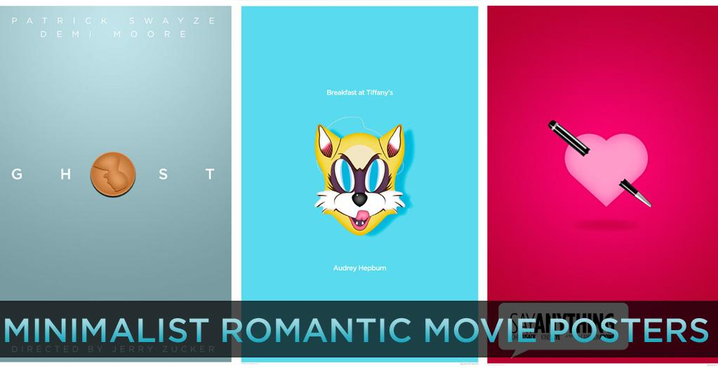 """Movie posters today are depressingly similar. They're all digitally composited headshots of the film's stars on blue and orange backgrounds. And since they all look alike, none of the posters say anything about what actually is in the movie.   That's why minimalist movie posters have become so popular on the web. Designers make their own artwork for their favorite films by distilling the entire running time down to one simple image. If you look online you'll find remarkable creations for sci-fi, cult, and other genre films. But we had to ask, """"Where's the romance?""""   In honor of Valentine's Day, we have put together a whole series of minimalist movie posters for some of our favorite romantic movies. Click ahead to see new posters based on a single memorable image from 15 timeless and modern classics."""