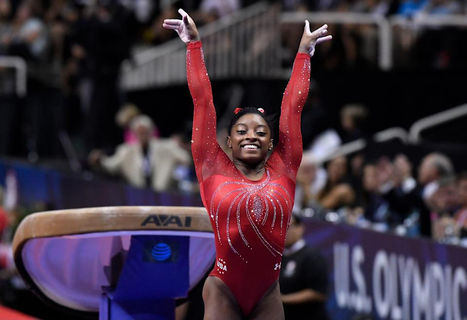 Simone Biles is a five-time world all-around champion who won four Olympic gold medals at the 2016 Rio Games.