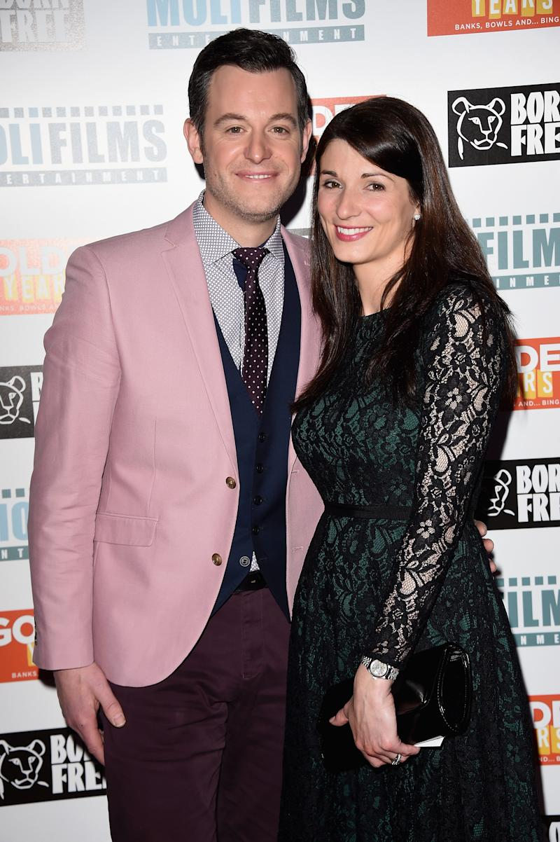 """LONDON, ENGLAND - APRIL 14: Matt Baker and Nicola Mooney attend the UK film premiere of """"Golden Years"""" at the Odeon Tottenham Court Road on April 14, 2016 in London, England. (Photo by Stuart C. Wilson/Getty Images)"""