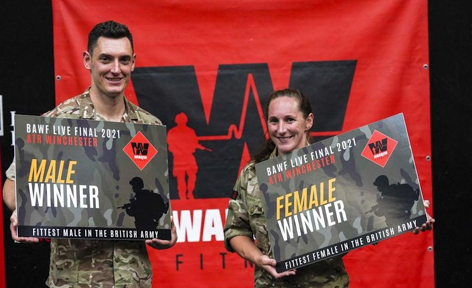 Staff Sgt Alex Rees (left) and Staff Sgt Charlotte Spence (Steve Parsons/PA) (PA Wire)