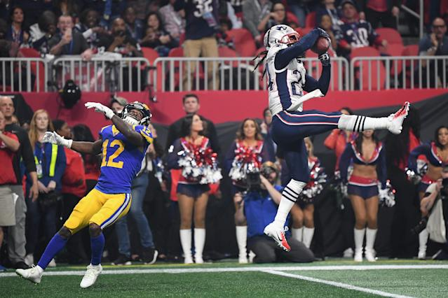 Stephen Gilmore cemented a 13-3 win for the New England Patriots in Super Bowl LIII. (Getty Images)