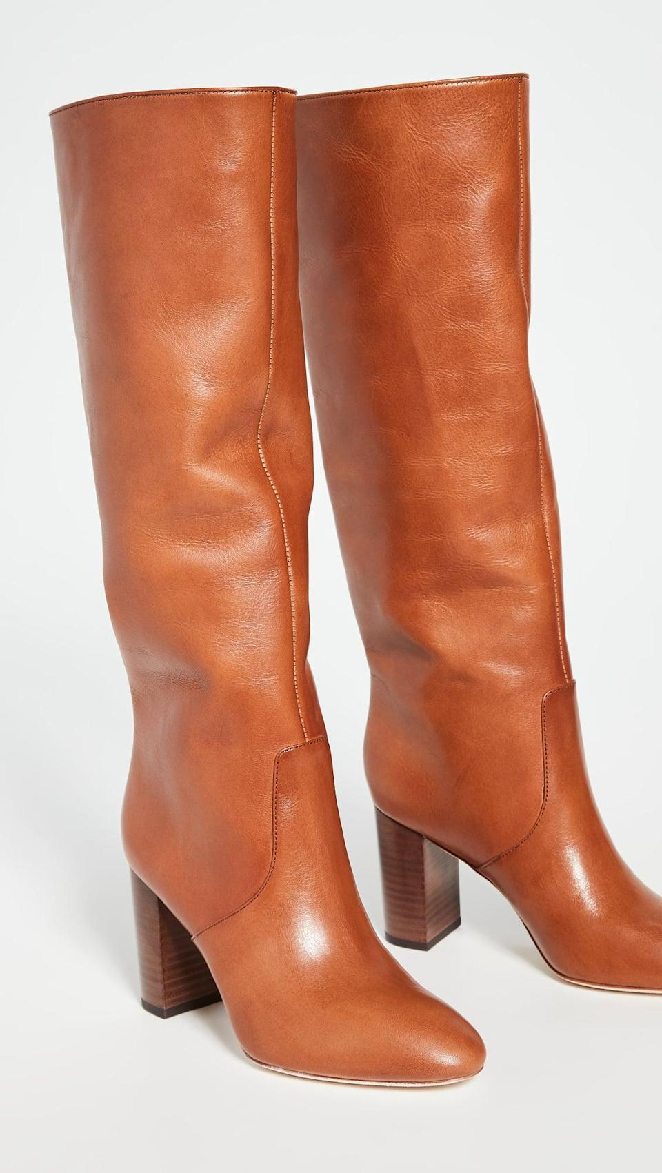 <p>These <span>Loeffler Randall Goldy Tall Boots</span> ($695) are as classic as it gets. We love that they're not too tight in the calf, so they slide right on. </p>