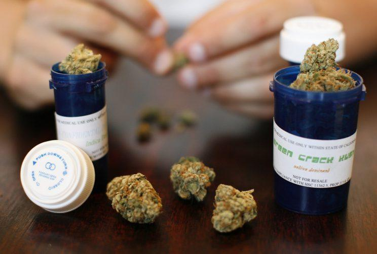 Medical marijuana is displayed in Los Angeles. Photo from Reuters