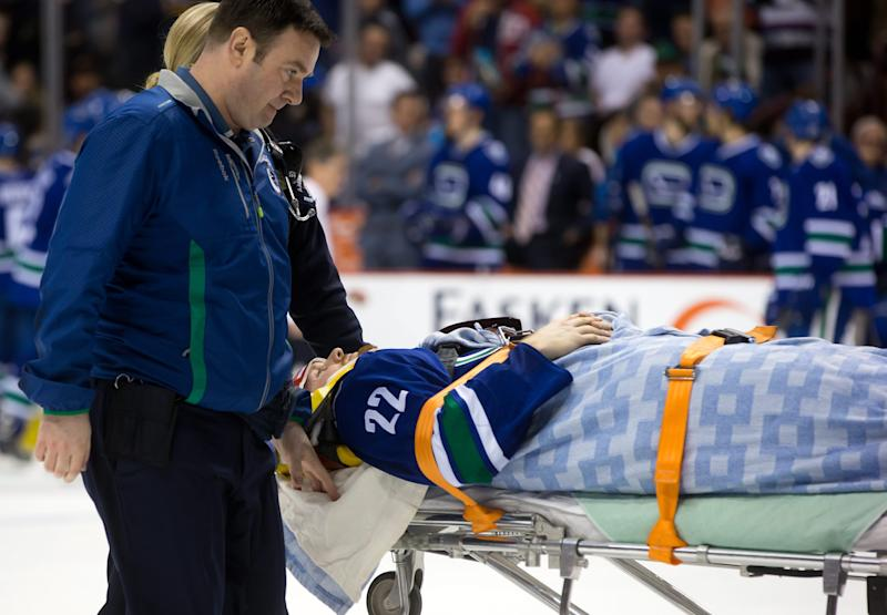 Canucks' Daniel Sedin injured by hit from behind