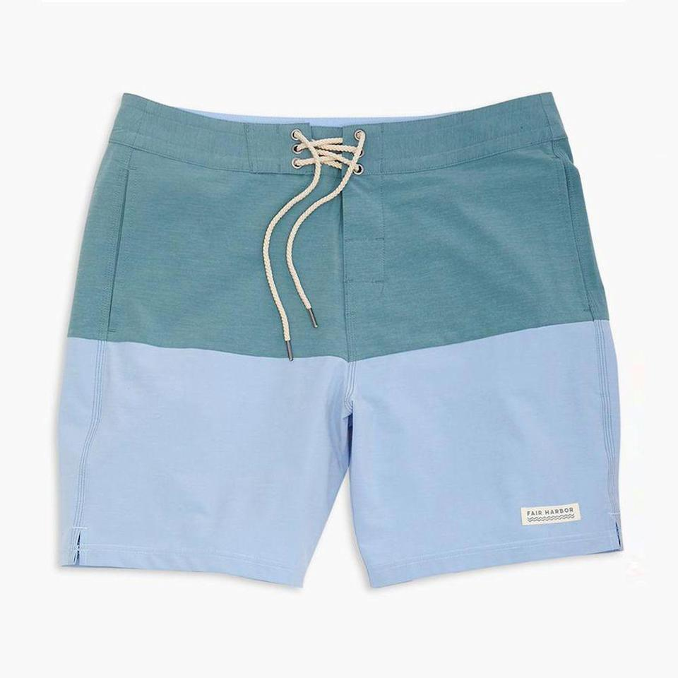 """<p><strong>Fair Harbor</strong></p><p>huckberry.com</p><p><strong>$68.00</strong></p><p><a href=""""https://go.redirectingat.com?id=74968X1596630&url=https%3A%2F%2Fhuckberry.com%2Fstore%2Ffair-harbor%2Fcategory%2Fp%2F61631-the-jupiter-boardshort&sref=https%3A%2F%2Fwww.menshealth.com%2Fstyle%2Fg21753744%2Fbeach-essentials%2F"""" rel=""""nofollow noopener"""" target=""""_blank"""" data-ylk=""""slk:BUY IT HERE"""" class=""""link rapid-noclick-resp"""">BUY IT HERE</a></p><p>Fair Harbor is making some of the most eco-friendly, comfortable, and cool trunks of the moment. This swimsuit made with recycled polyester—which keeps 12 bottles out of landfills per pair—makes for feel-good beach attire catching some waves. The four-way stretch fabric with water-repellent coating allows for optimum flexibility and comfort for all beach activities. </p>"""