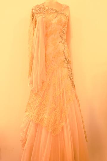 You need a big personality to wear this Gaurav Gupta lace gown