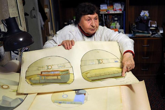 Galina Balashova went on to spend three decades designing the interior of the Soyuz and other Soviet spaceships, making sure the crafts were not just metal carcasses stuffed with equipment, but also living spaces (AFP Photo/Naira Davlashyan)