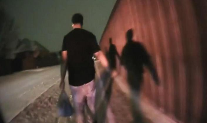 Bodycam footage shows high school senior Rodney Reese walking home while being questioned by police on Feb. 16, 2021, in Plano, Texas. (KXAS)