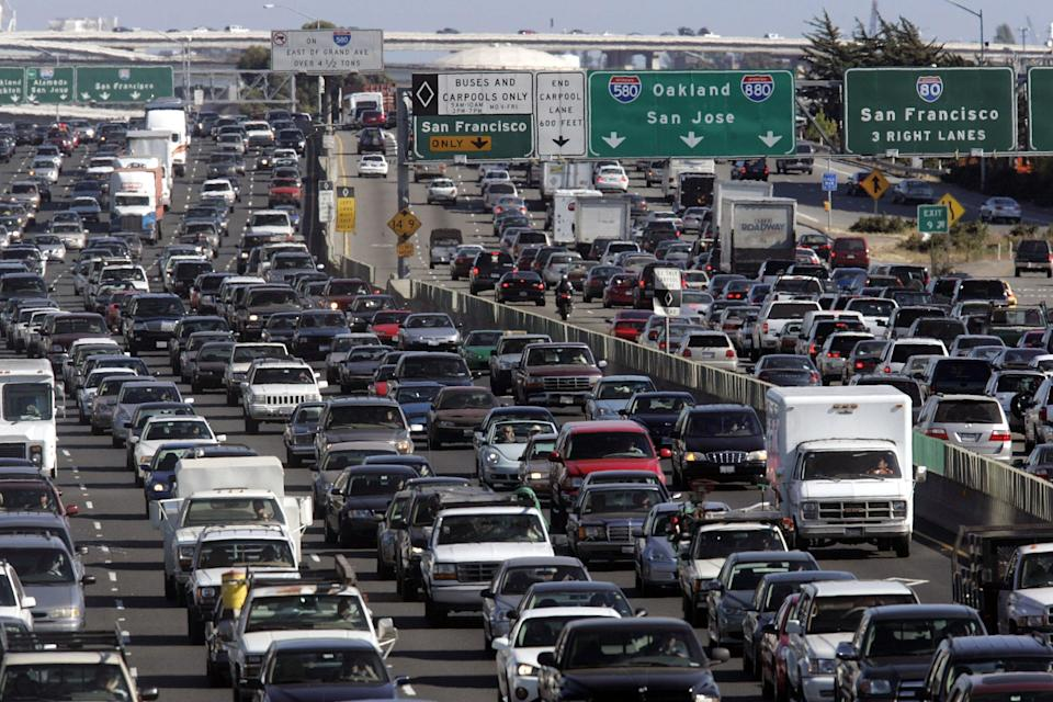 Everyone wanting to head out for the Independence Day weekend means lot of traffic on the roads. (Getty Images)
