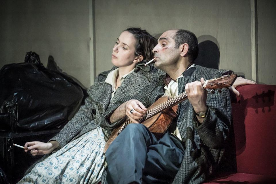 Kate O'Flynn and Zubin Varla in The Two Character Play (Marc Brenner)