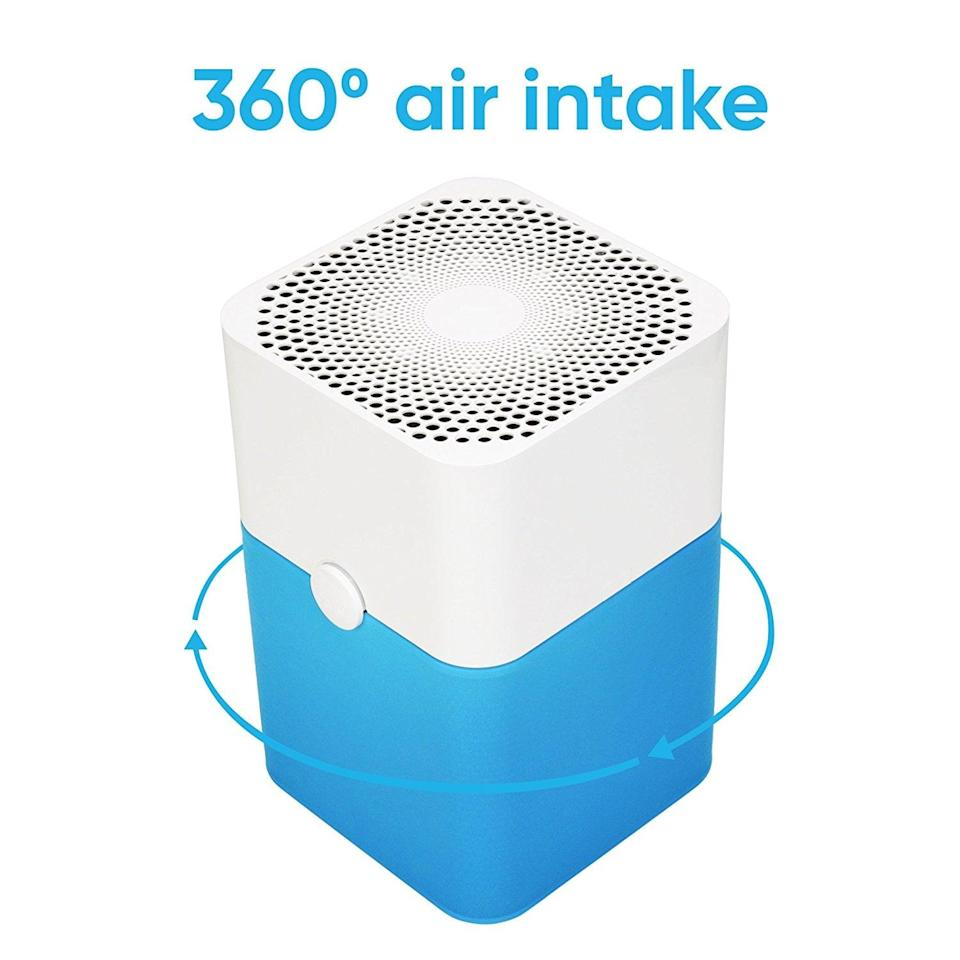 <p>You almost won't believe the mighty power this <span>Blueair Blue Pure 211+ Air Purifier</span> ($286) holds. The three-part filtration system can capture 99 percent of airborne pollutants, such as pet dander, allergens, odors, smoke, mold spores, and dust mites. This size is designed for medium rooms, ranging between 400 and 600 square feet.</p>