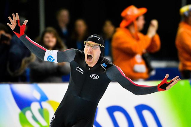 <p>Canada took down another record in December, as Ted-Jan Bloemen skated his way to a world-best time in men's 5,000m long track. (Photo by Alex Goodlett – ISU/ISU via Getty Images) </p>