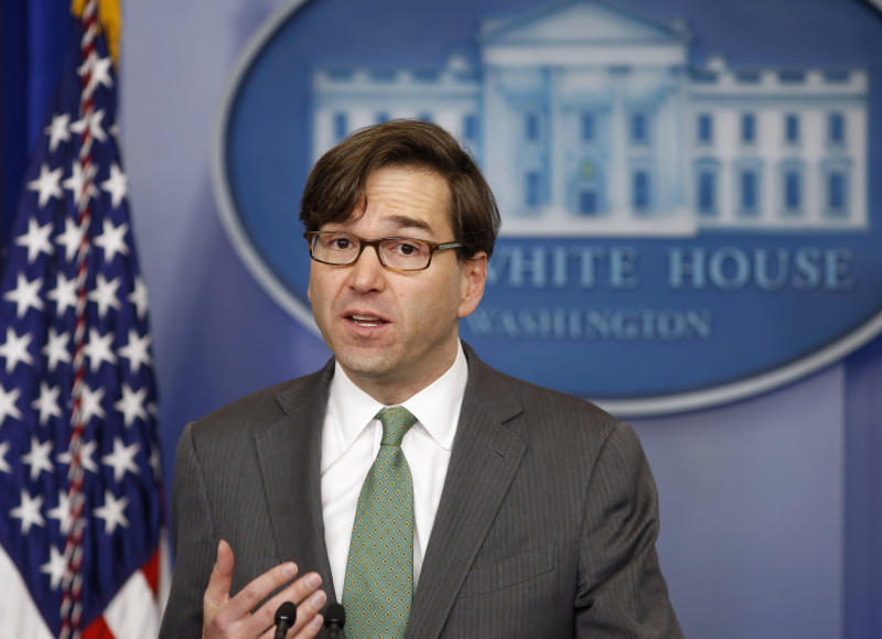 Chairman of the Council of Economic Advisers Jason Furman speaks during a news conference at the White House in Washington