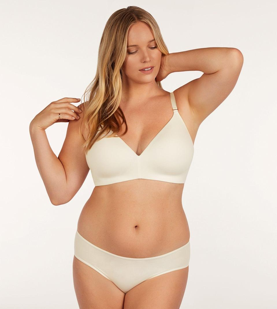 """<h3>ThirdLove Pima Cotton Hipster</h3><br><br><strong>Best Inclusively-Sized Basic</strong><br><br>Women of all dimensions flock to ThirdLove for their array of inclusively-sized styles. This cute, functional hipster is the highest-rated cotton panty that will work on bodies sized from XS to 3X.<br><br><strong>The Hype:</strong> 4.4 out of 5 stars; 977 reviews on <a href=""""https://www.thirdlove.com/products/cotton-hipster-sea-salt"""" rel=""""nofollow noopener"""" target=""""_blank"""" data-ylk=""""slk:ThirdLove.com"""" class=""""link rapid-noclick-resp"""">ThirdLove.com</a><br><br><strong>What They Are Saying: </strong>""""These are very soft and comfortable. I am a size 10 and bought a medium. They don't dig in on the sides either which is nice. Will definitely buy again!""""<br><br><strong>ThirdLove</strong> Pima Cotton Hipster, $, available at <a href=""""https://go.skimresources.com/?id=30283X879131&url=https%3A%2F%2Fwww.thirdlove.com%2Fproducts%2Fcotton-hipster-sea-salt"""" rel=""""nofollow noopener"""" target=""""_blank"""" data-ylk=""""slk:ThirdLove"""" class=""""link rapid-noclick-resp"""">ThirdLove</a>"""