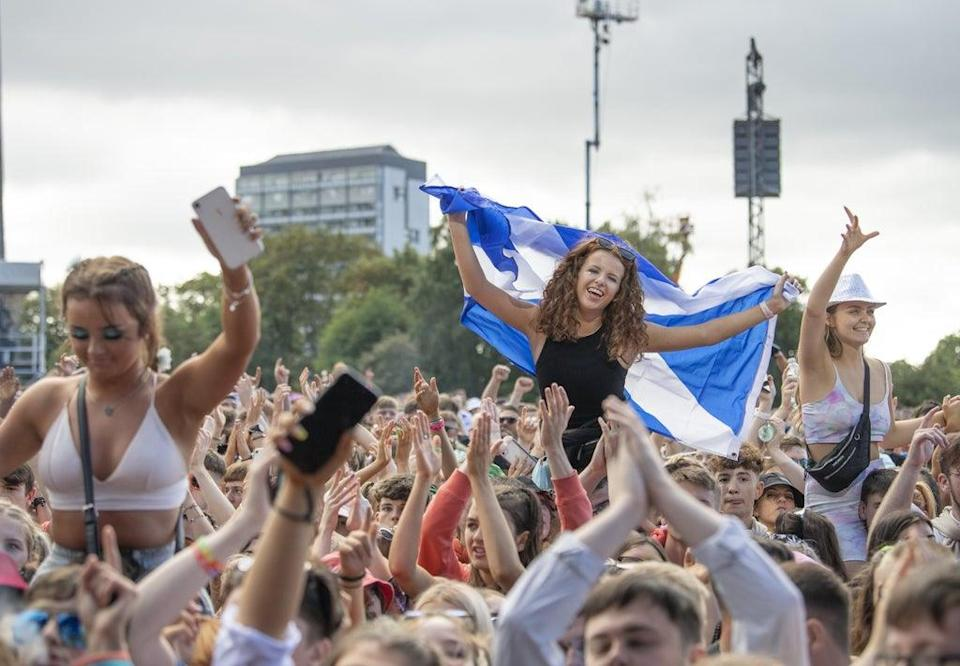 Crowds enjoy the second day of the event at Glasgow Green (Lesley Martin/PA) (PA Wire)