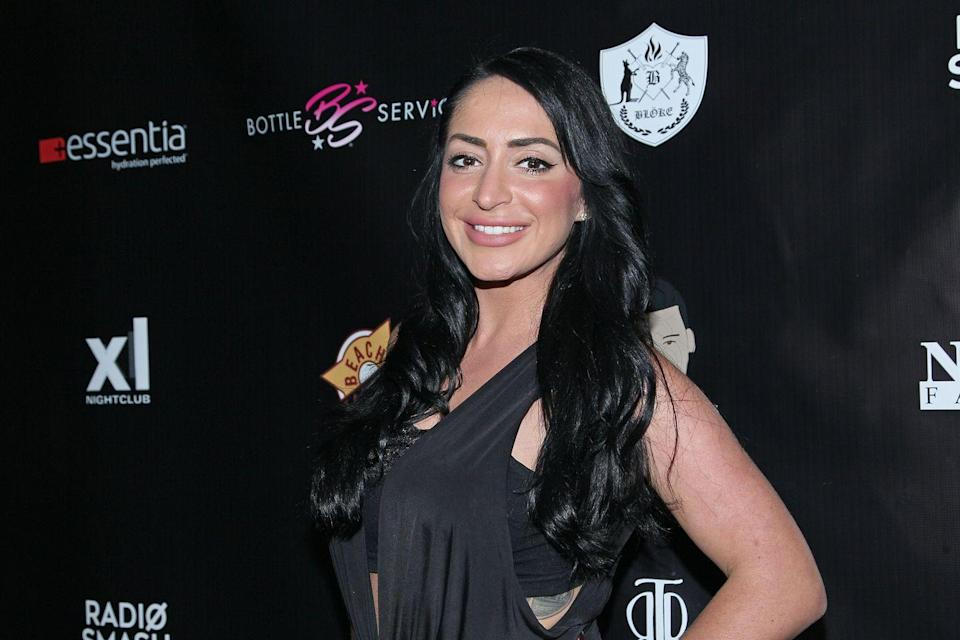 """<p>Despite appearing on only the first two seasons of<em> Jersey Shore,</em> Angelina can definitely upgrade her luggage from trash bags 'cause <a href=""""https://www.celebritynetworth.com/richest-celebrities/angelina-pivarnick-net-worth/"""" rel=""""nofollow noopener"""" target=""""_blank"""" data-ylk=""""slk:Celebrity Net Worth"""" class=""""link rapid-noclick-resp""""><em>Celebrity Net Worth</em></a> estimates she's worth $4 million. </p><p>Since the show, Angelina's gotten involved with TNA Wrestling, she appeared on <em>Couples Therapy</em> with her boyfriend, and joined the cast of<em> Jersey Shore: Family Vacation</em>. </p>"""