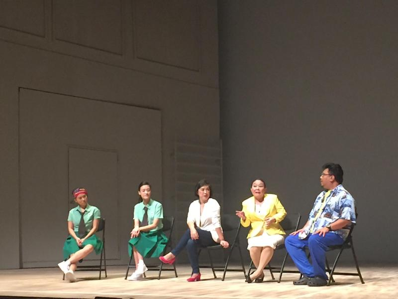 Detention Katong's post-show forum with Greenview Secondary School and Choa Chu Kang Secondary School. (Dream Academy)