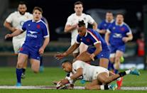 England wing Anthony Watson enjoyed a memorable 50th Test appearance scoring a try in a superb all round performance