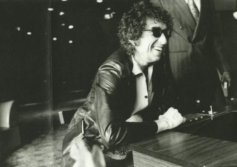 Bob Dylan on tour in 1978 in Europe