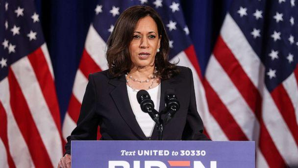 PHOTO: Democratic vice presidential nominee Kamala Harris delivers a campaign speech in Washington, Aug. 27, 2020, hours before the conclusion of the Republican National Convention. (Jonathan Ernst/Reuters)