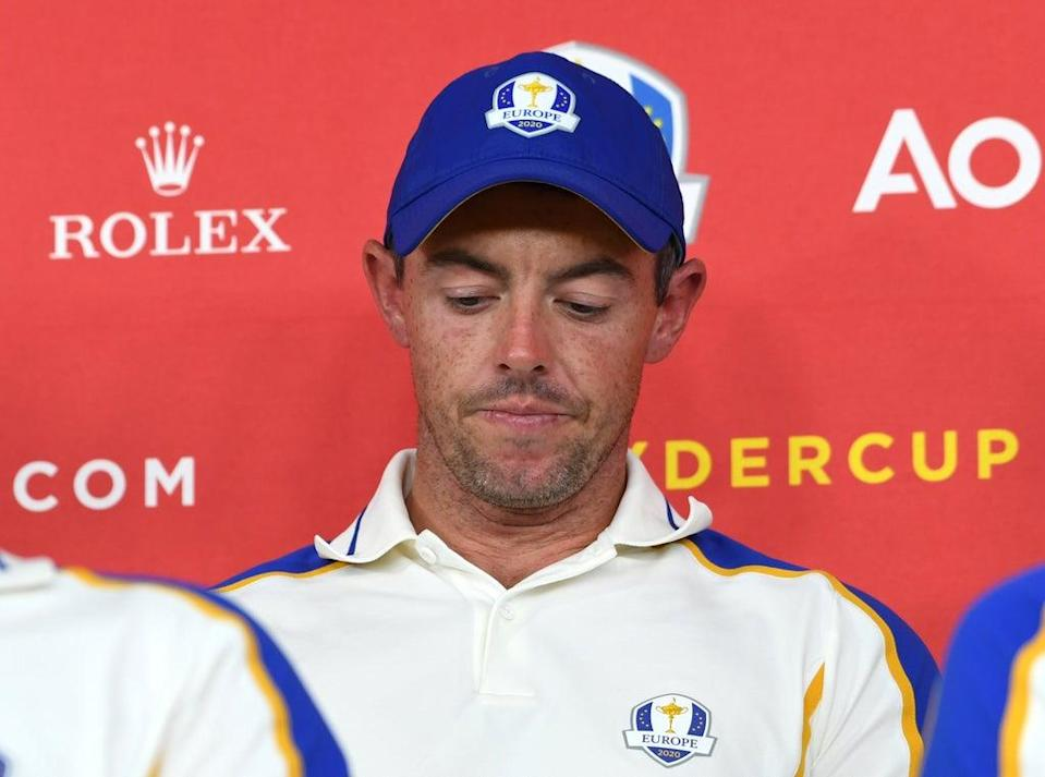Team Europe's Rory McIlroy during a press conference after defeat to Team USA in the 43rd Ryder Cup (Anthony Behar/PA) (PA Wire)