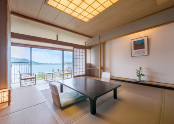 Japanese-style with tatami mats.