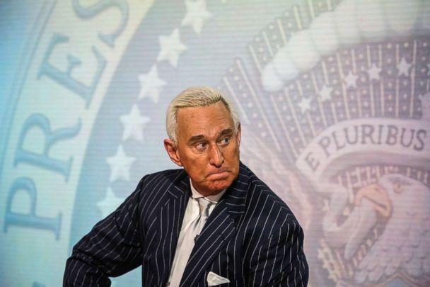 PHOTO: Roger Stone, former adviser to Donald Trump's presidential campaign, listens during a Bloomberg Television interview in New York, May 12, 2017. (Christopher Goodney/Bloomberg via Getty Images)