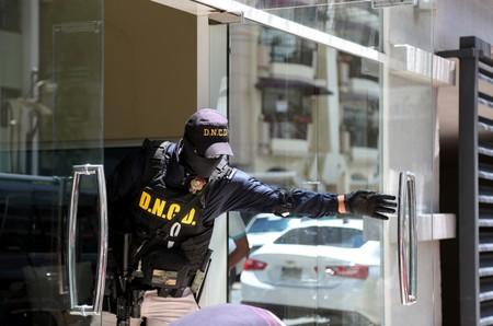 Members of the National Army, National Directorate of Drug Control (DNC) and Public Ministry raid the properties of Cesar Emilio Peralta in Santo Domingo