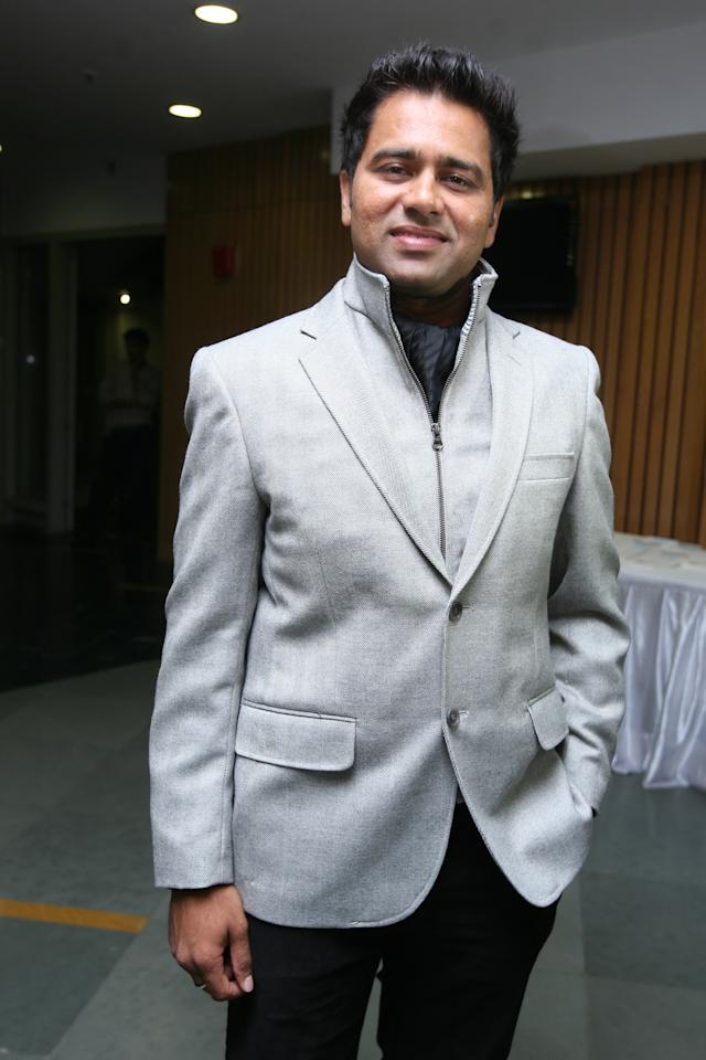 """NEW DELHI, INDIA - NOVEMBER 16: Cricketer Aakash Chopra at the launch of his new book 'Out of the Blue"""" in New Delhi on Wednesday 16th November, 2011. (Photo by Parveen Negi/India Today Group/Getty Images)"""