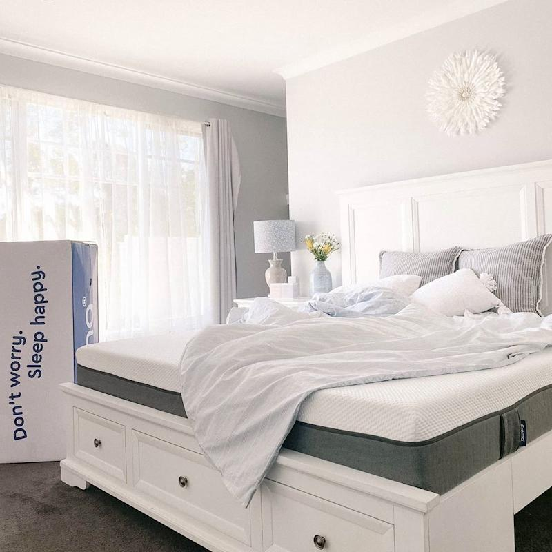 Shop and save 35% on the Emma Mattress. Image via Instagram/thewhitehamptonhouse.